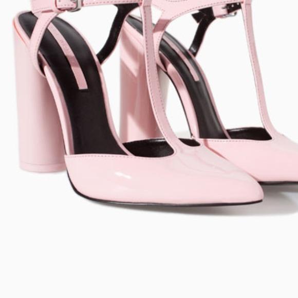Zara Shoes | Zara Pink Tstrap High
