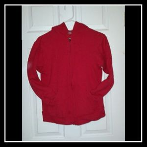 FLASH!!!**RED ZIP UP SWEATER