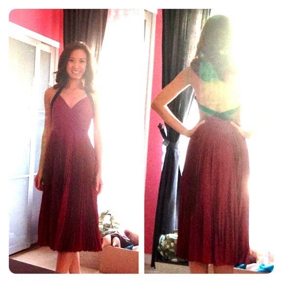 Vintage Red Tea Length Dress
