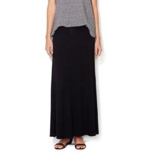 Black Jersey Maxi skirt~