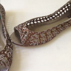 DSW Shoes | Peep Toe Flats | Poshmark