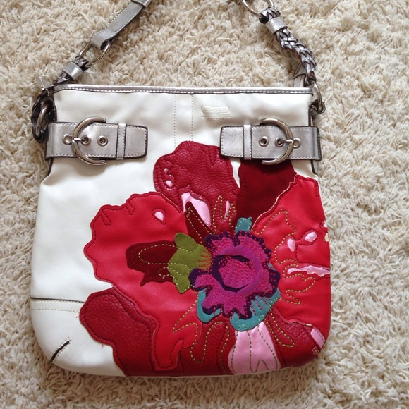 Bags coach inspired white poppy flower handbag poshmark coach inspired white poppy flower handbag mightylinksfo