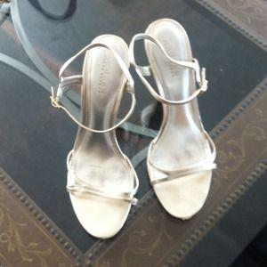 Ralph Lauren High Heeled Sandals, Gold
