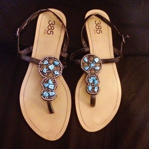 385 Fifth Shoes - Beaded embellished sandals