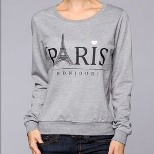 Grey Paris French terry crew neck sweater medium