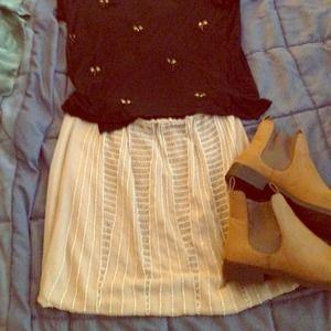 Beautiful beaded pale pink skirt