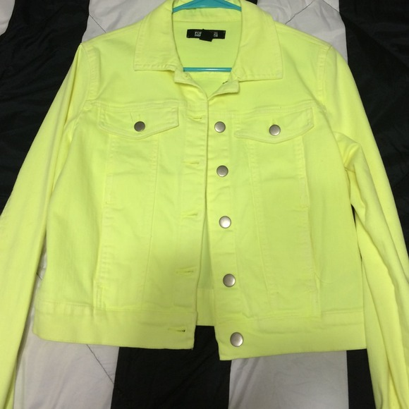 c2038d3078 Neon Yellow Denim Jacket