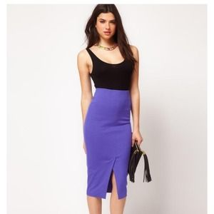 Asos stretch purple pencil skirt NWT