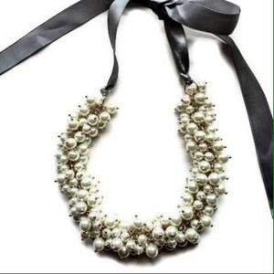 JCrew pearl cluster statement necklace