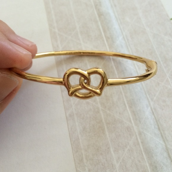 kate spade Jewelry - Kate Spade pretzel gold bangle bracelet