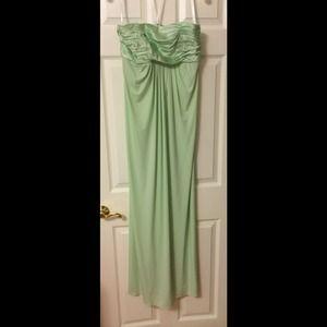 Mint green bridesmaids dress