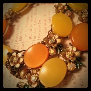 SOLD!  Vintage - BSK- Statement Necklace