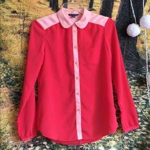 NWOT American eagle Peter Pan shirt xs