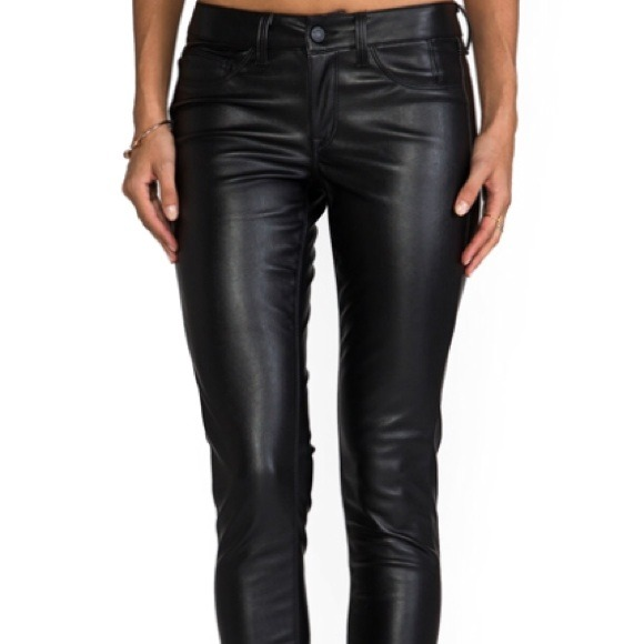 Black pleather pants pant so for What is faux leather to real leather