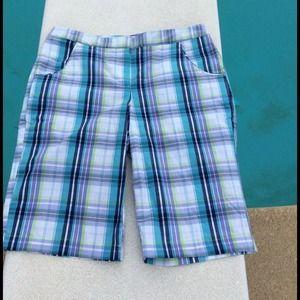 Plaid Bermuda Shorts by Izod