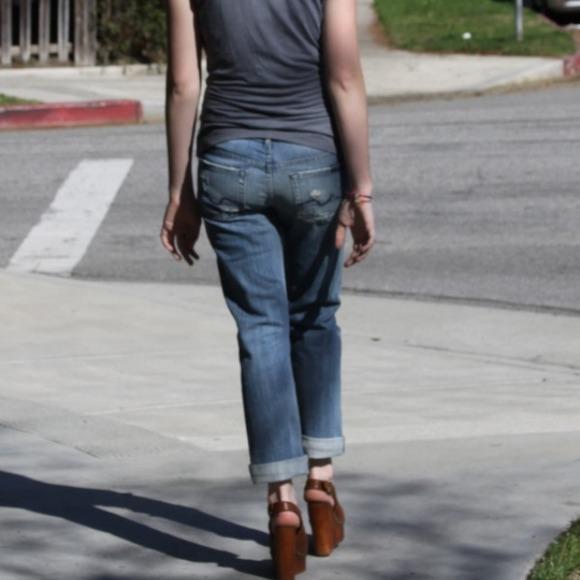 84% off 7 for all Mankind Denim - 7 FAM Rickie boyfriend jeans ...