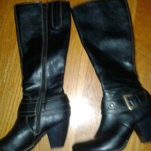 Born Shoes Boc Tall Black Boots Poshmark