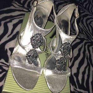 Silver heels!
