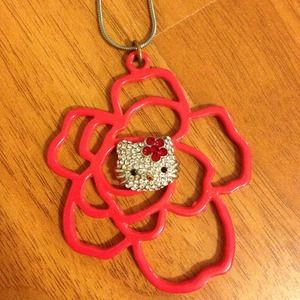 Hello kitty rose necklace