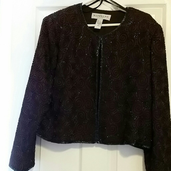 Off niteline jackets blazers chocolate embroidered