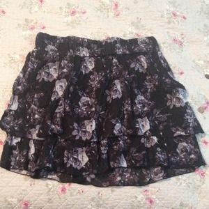 Ruffled high waisted skirt!