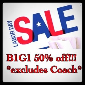 LABOR DAY SALE! B1G1 50% off the lesser of the 2!
