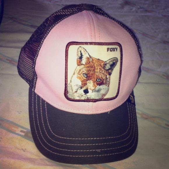 Accessories - Goorin Bros pink brown Foxy mesh cap hat one size d43c40bce58d
