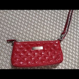 Red Michael Kors clutch