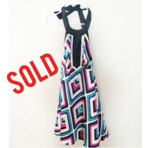 Dresses & Skirts - SOLD IN BUNDLE 🔻🔻🔻Silky Halter Dress 💖💜💙💚
