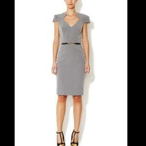 ⭐️RARE⭐️Ava & Aiden Cap-sleeve Sheath Midi Dress