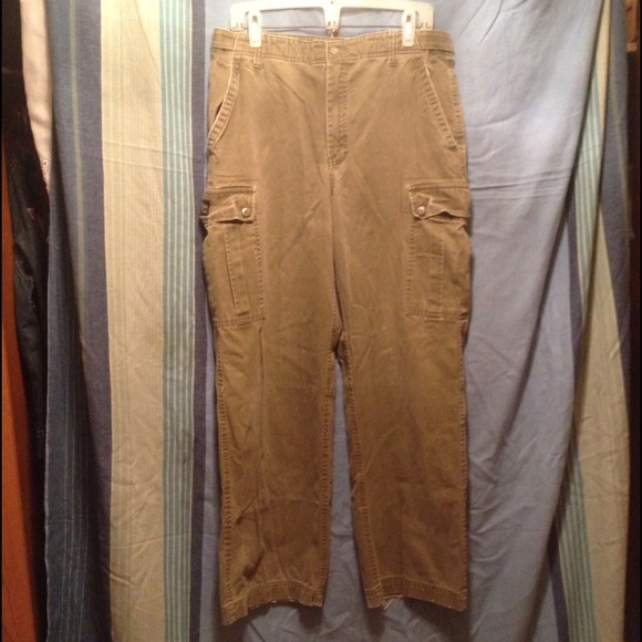 Express Pants - Express army green cargo pants 34/32