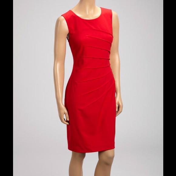 Calvin Klein red dress, sleeveless, size 10