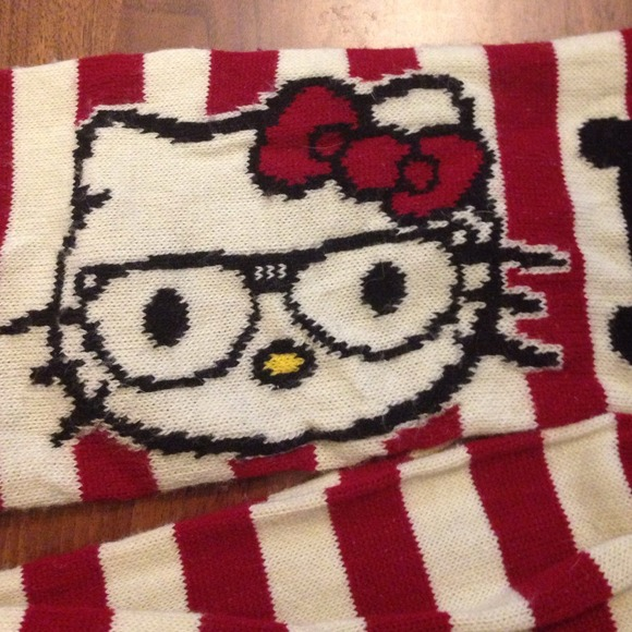 77% off Hello Kitty Accessories - Hello Kitty  knitted scarf. from Mks c...