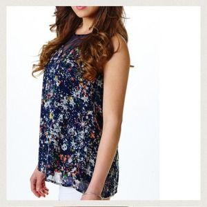 Maude Tops - Sleeveless starry blouse top