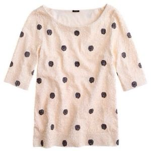 J. Crew Tops - JCREW Polka Dot Sequin Top