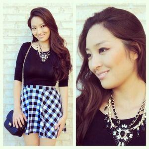 Dresses & Skirts - Checkered skater skirt
