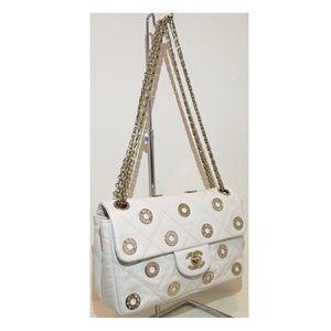 CHANEL Handbags - CHANEL White Swarovski Handbag