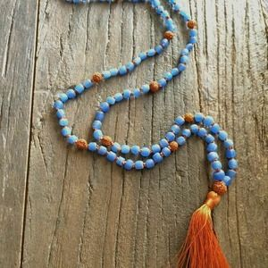 Recycled Glass Rudraksha – Light Blue