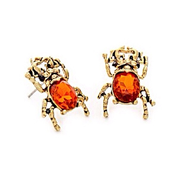 House of KL Jewelry - 🌅👂🏼Avery Gold & Amber Beetle Posts