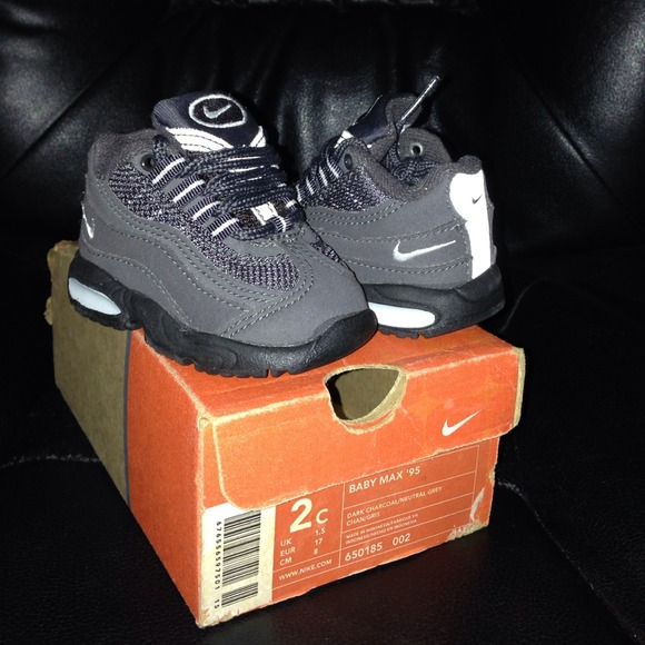 pretty nice 49f91 fb0be netherlands baby nike air max 95 86bed 78d05  coupon code for air max 95  charcoal grey size 2c new 0a975 29217