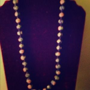 Mult-colored bead necklace