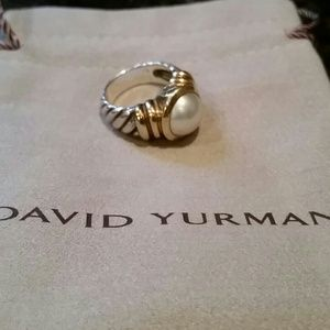 Authentic David Yurman pearl ring