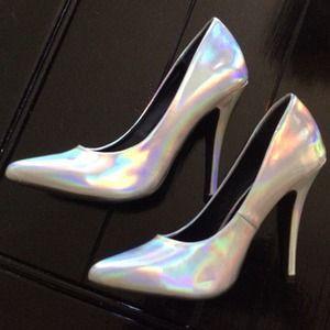 Silver Hologram F21 Heels