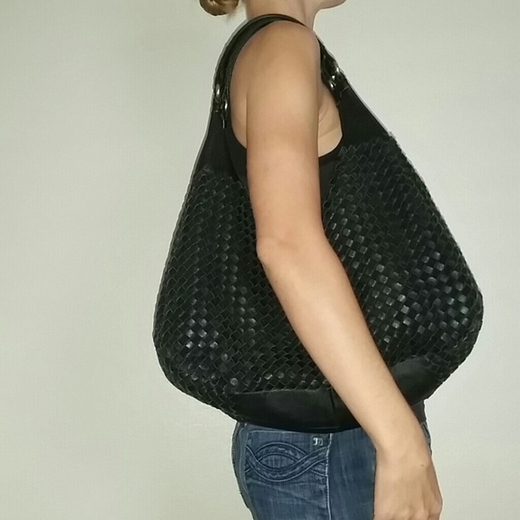 Bottega Veneta Handbags - Bottega Veneta inspired woven leather suede purse 4688ad83b077e