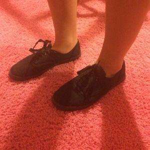 136f5b498426b0 Vans Shoes - Knock off solid black canvas vans keds