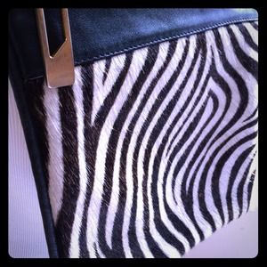 Nordstrom Handbags - Nordstrom zebra calf hair cross body leather bag
