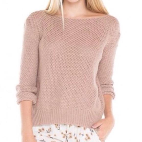 38% off Brandy Melville Sweaters - Brandy Melville blush oversize ...