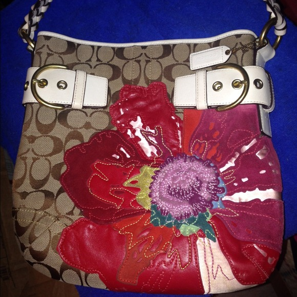 Coach poppy flower bag kit authentic coach poppy flower purse mightylinksfo
