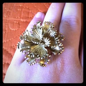 Jcrew gold flower ring