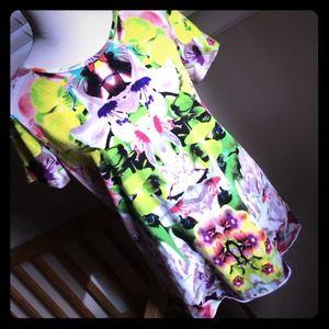 prabal gurung for target Tops - Custom mirror print neon floral t-shirt